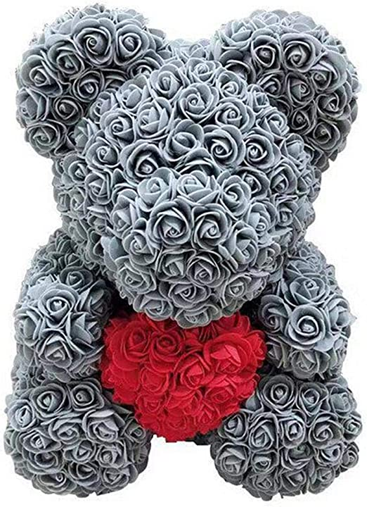 Bear Lovely Big Red Rose Flower Bear Doll Toy Wedding Valentine Gifts*38cm Decor