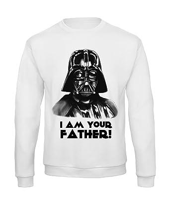 Sudadera para Hombre Cuello Redondo Star Wars Darth Vader Bianco Large: Amazon.es: Ropa y accesorios