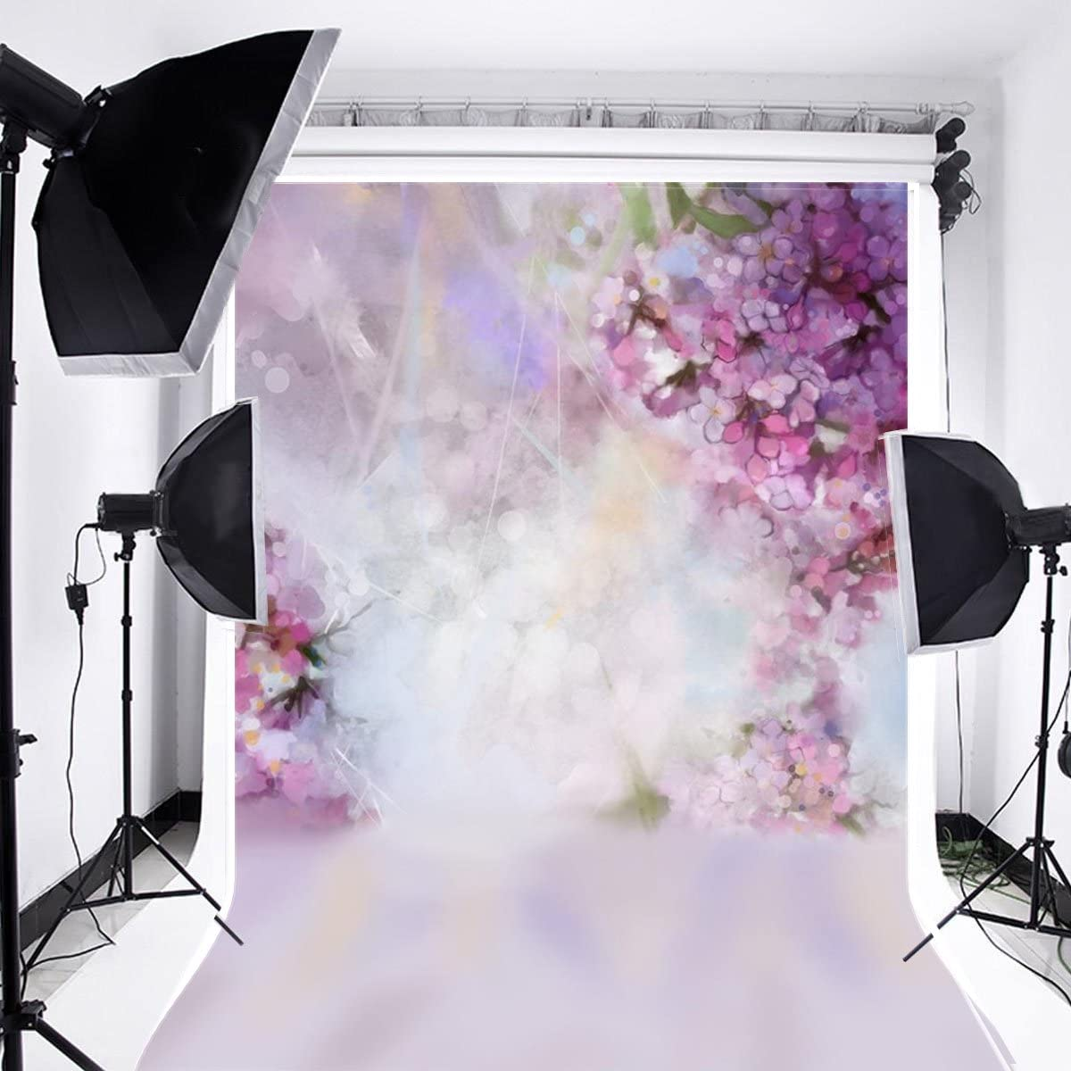 Amazon Com Laeacco Floral Background 5x7ft Oil Painting