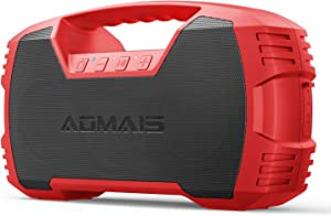 AOMAIS GO Bluetooth Speakers,Waterproof Portable Indoor/Outdoor 30W Wireless Stereo Pairing Booming Bass Speaker,30-Hour Playtime with 8800mAh Power Bank,Durable for Home Party,Camping(Red)