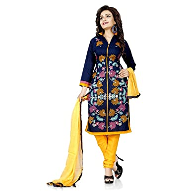 Salwar Suit For Women Latest Design 2018 Fancy Unstitched Cloveo Ladies  Suits And Salwar Under 500 Printed French Crepe Dress Material In Blue  Color  ... 855942f241