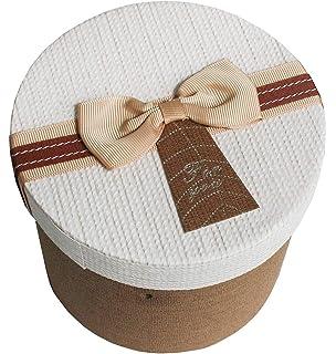 Caja de regalo cuadrada en corazones de cartón patrón 19 x ...