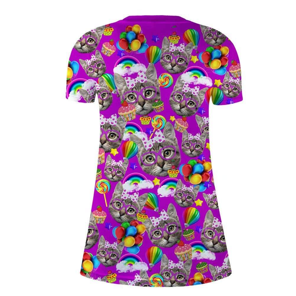 Amazon.com: Vcollar camiseta vestido mujer cuello en V Kuhle ...