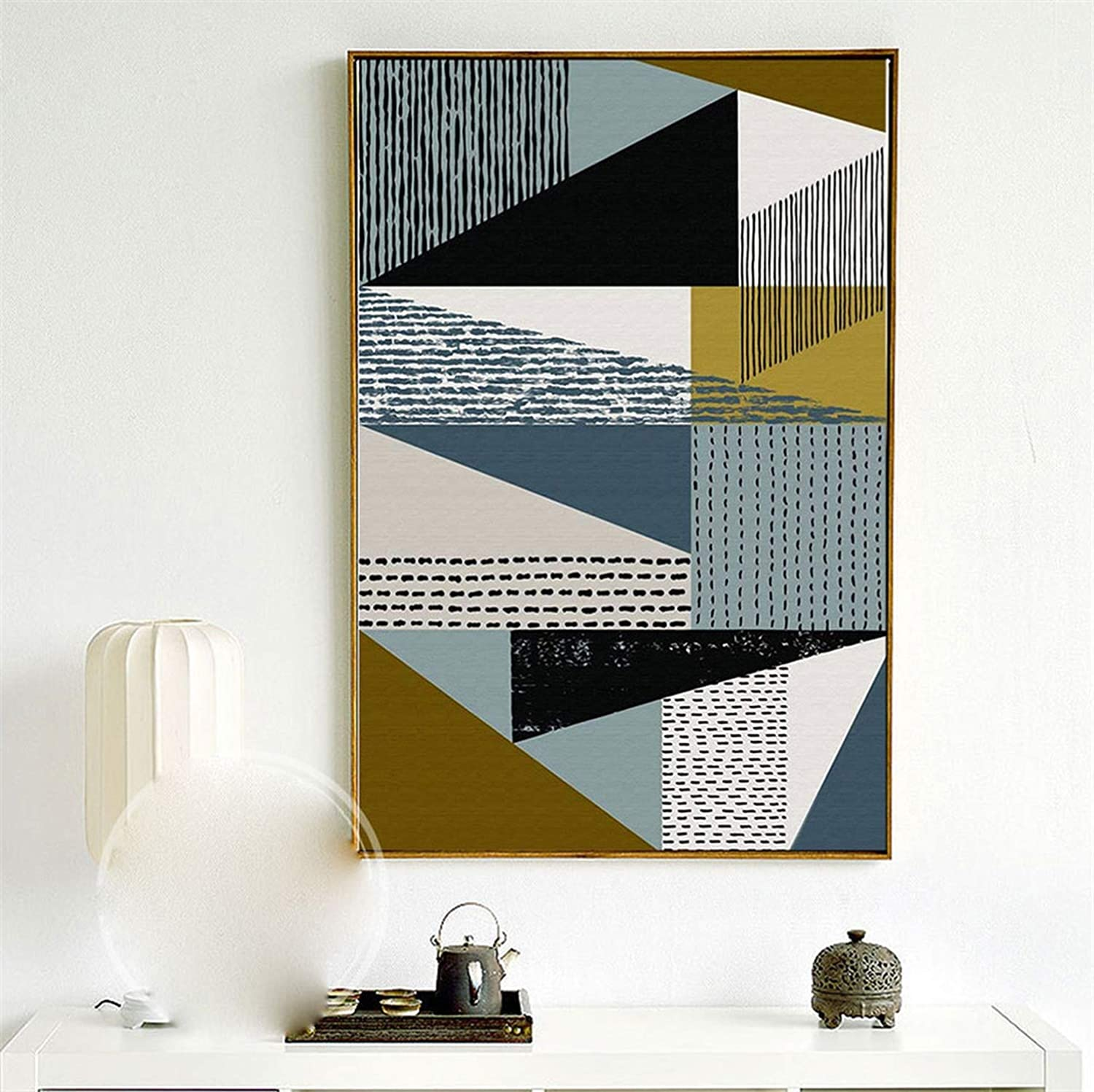 Amazon com abstract geometric canvas paintings nordic scandinavian posters prints wall art oil pictures for living room home decor unframed 20x30 no frame
