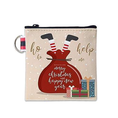 Amazon.com: Bolsa de regalo de Papá Noel Merry Navidad lona ...