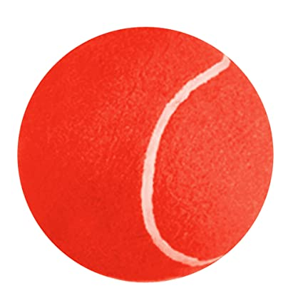 Amazon Com Jumbo Tennis Ball 8 Color Red Everything Else