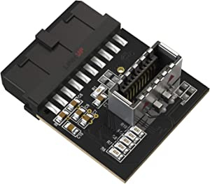 LINKUP - USB 3.0 (3.1 Gen 2) Internal IDC 20 Pin Motherboard Header to A-Key 20 Pin Female Header Active Converter for Type C Panel Mount Adapter