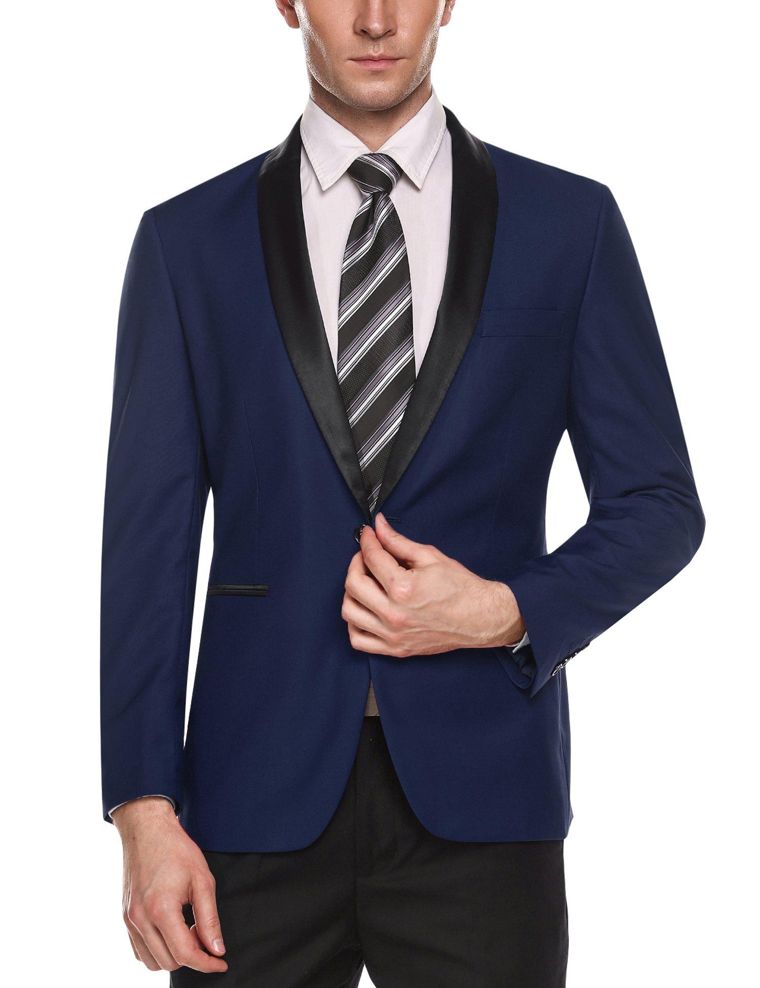 COOFANDY Men's Slim Fit Blazer Jacket Casual One Button Suit Coat by COOFANDY (Image #2)