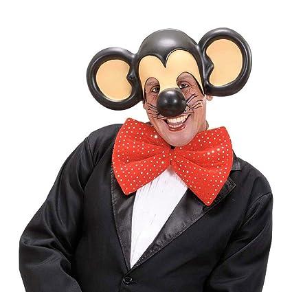 Máscara de ratón Mickey con grandes orejas roedor antifaz animal carnaval