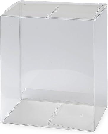 Mopec Caja con Forma de Cubo Transparente sin Base Dorada, Pack de ...