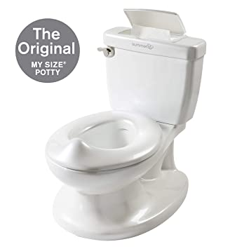 f3dfda8f438a Summer Infant My Size Potty - Training Toilet for Toddler Boys   Girls -  with Flushing