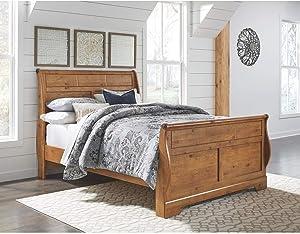 Ashley Furniture Signature Design - Bittersweet Queen Sleigh Footboard - Component Piece - Light Brown