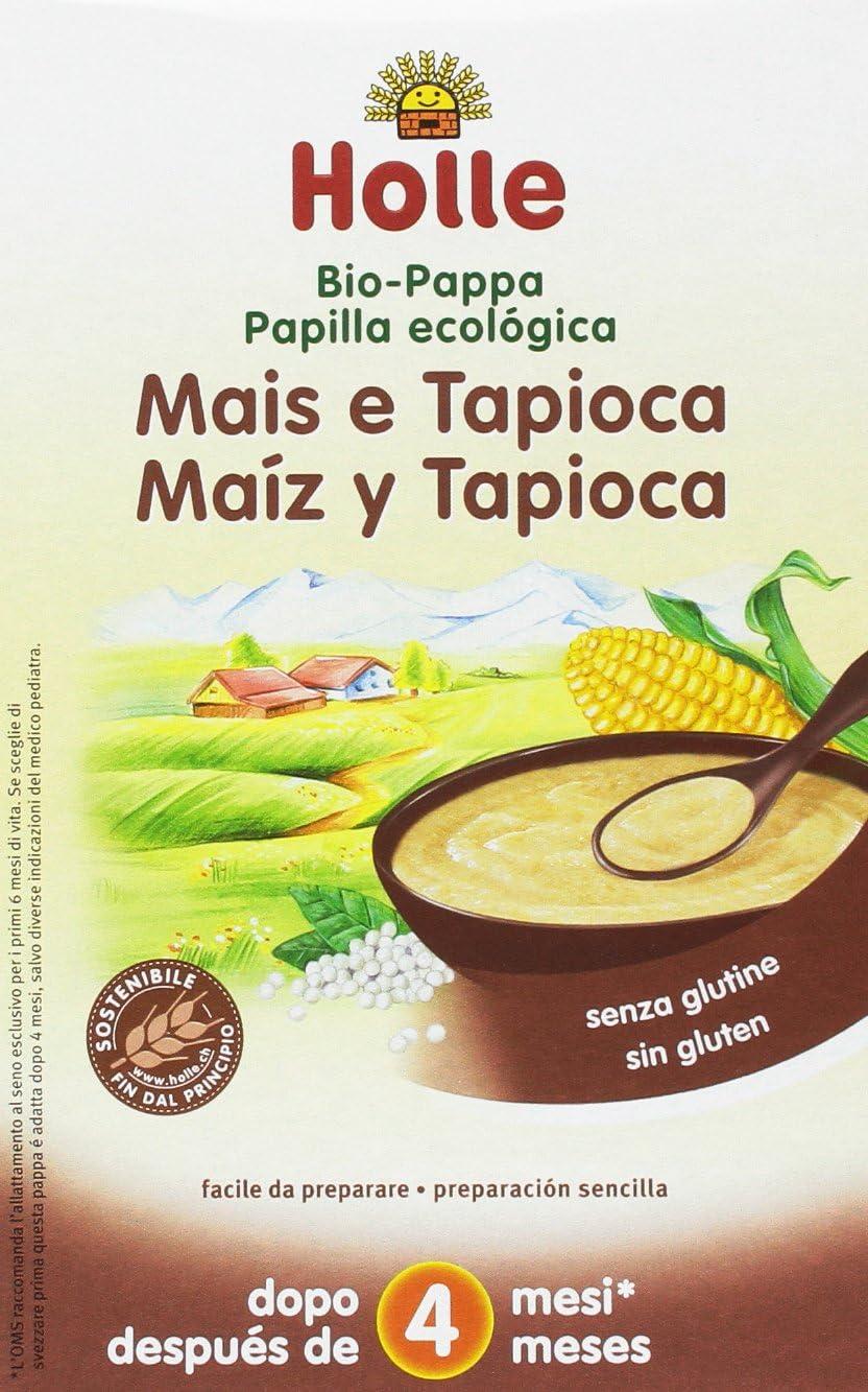 Papilla ecológica de maíz y tapioca HOLLE (6 paquetes de 250 gr)