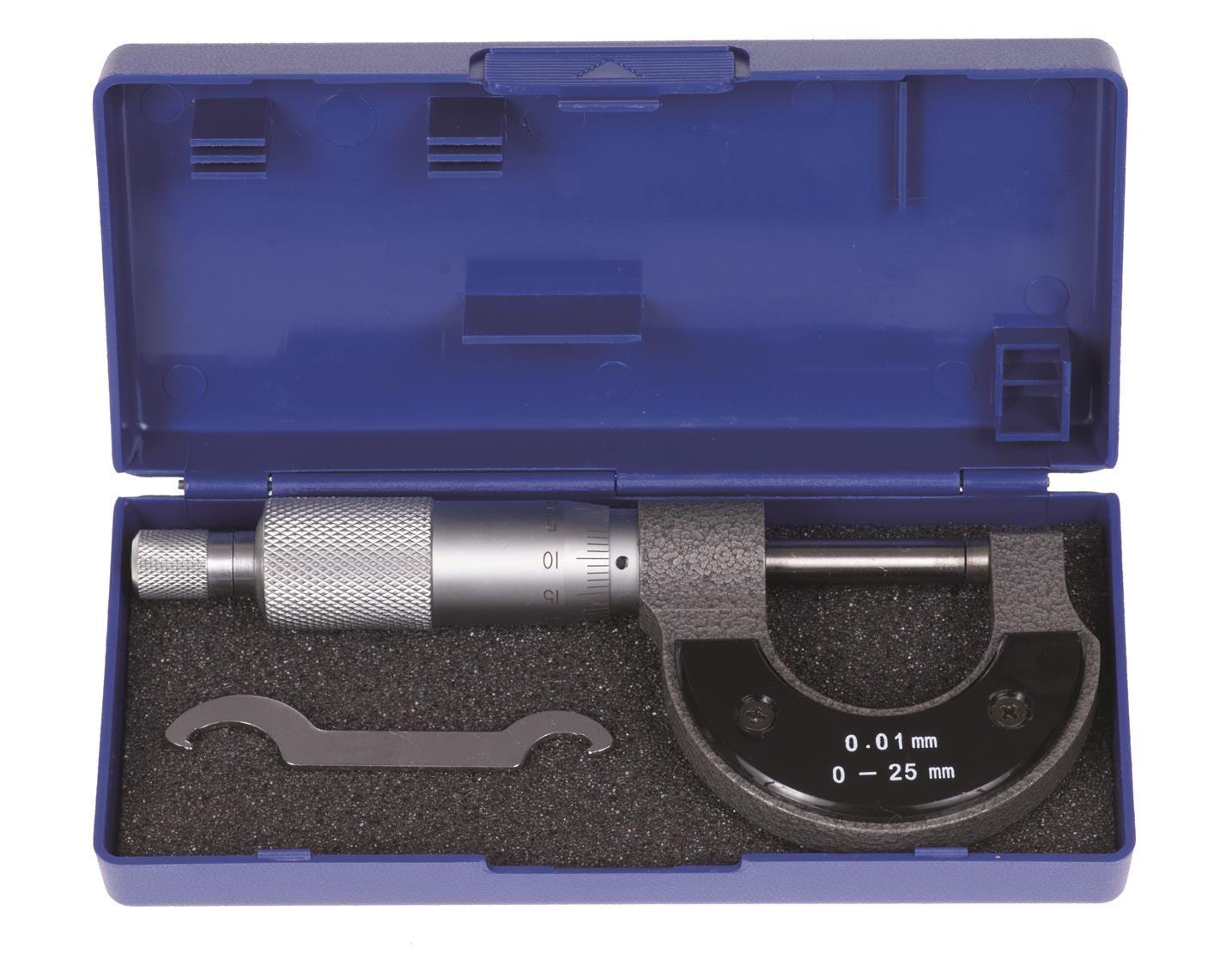 Micrometer 0.01/to 25/mm Micrometer MICROMETER Measuring Micrometer Gauge Box