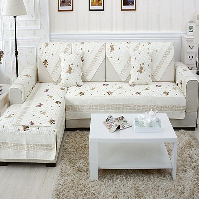 DW&HX Elegante 100% algodón Peso Pesado Protector para sofás ...