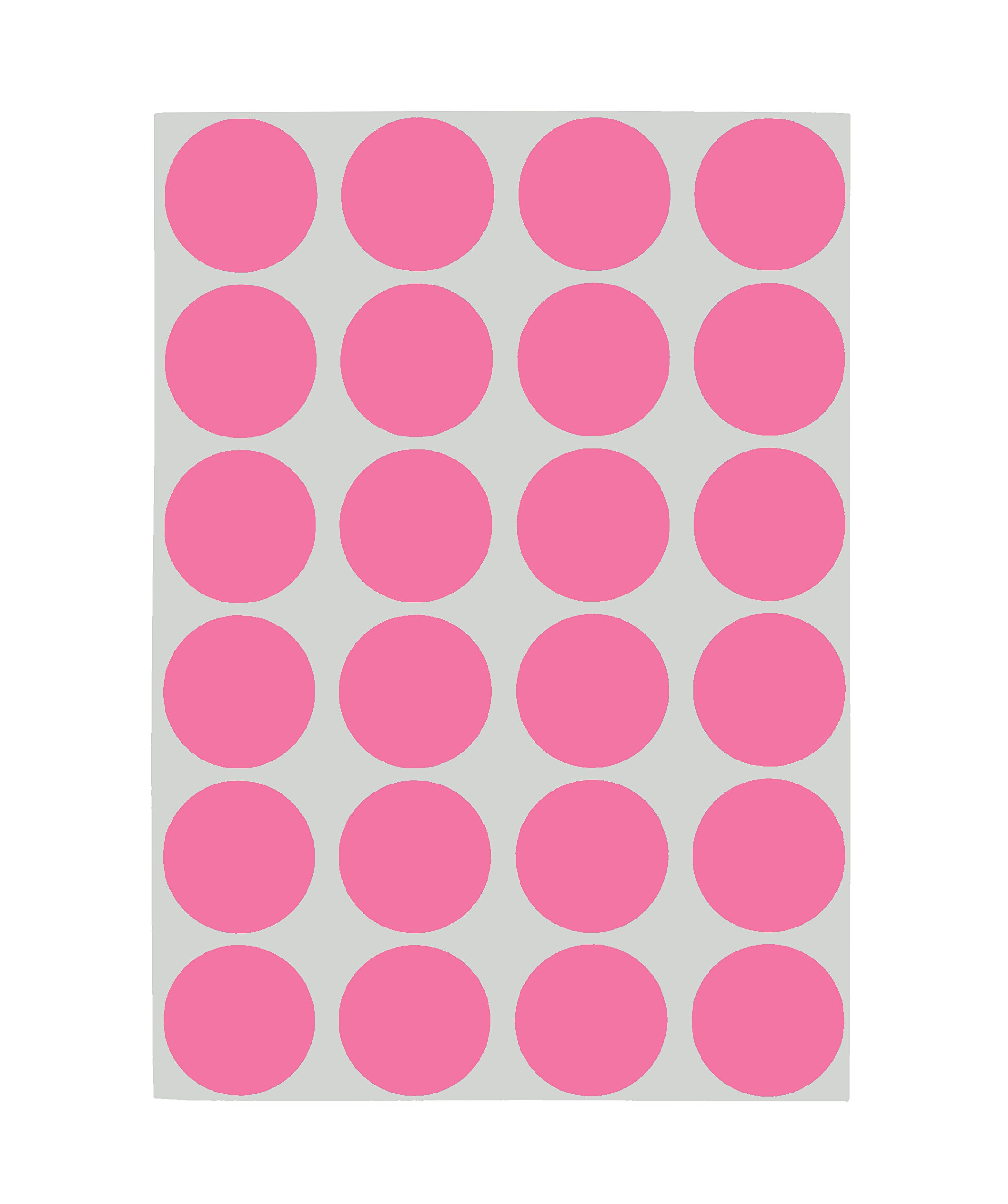 ChromaLabel 3/4 inch Removable Color-Code Dot Labels on Sheets | 1,008/Pack (Rose)
