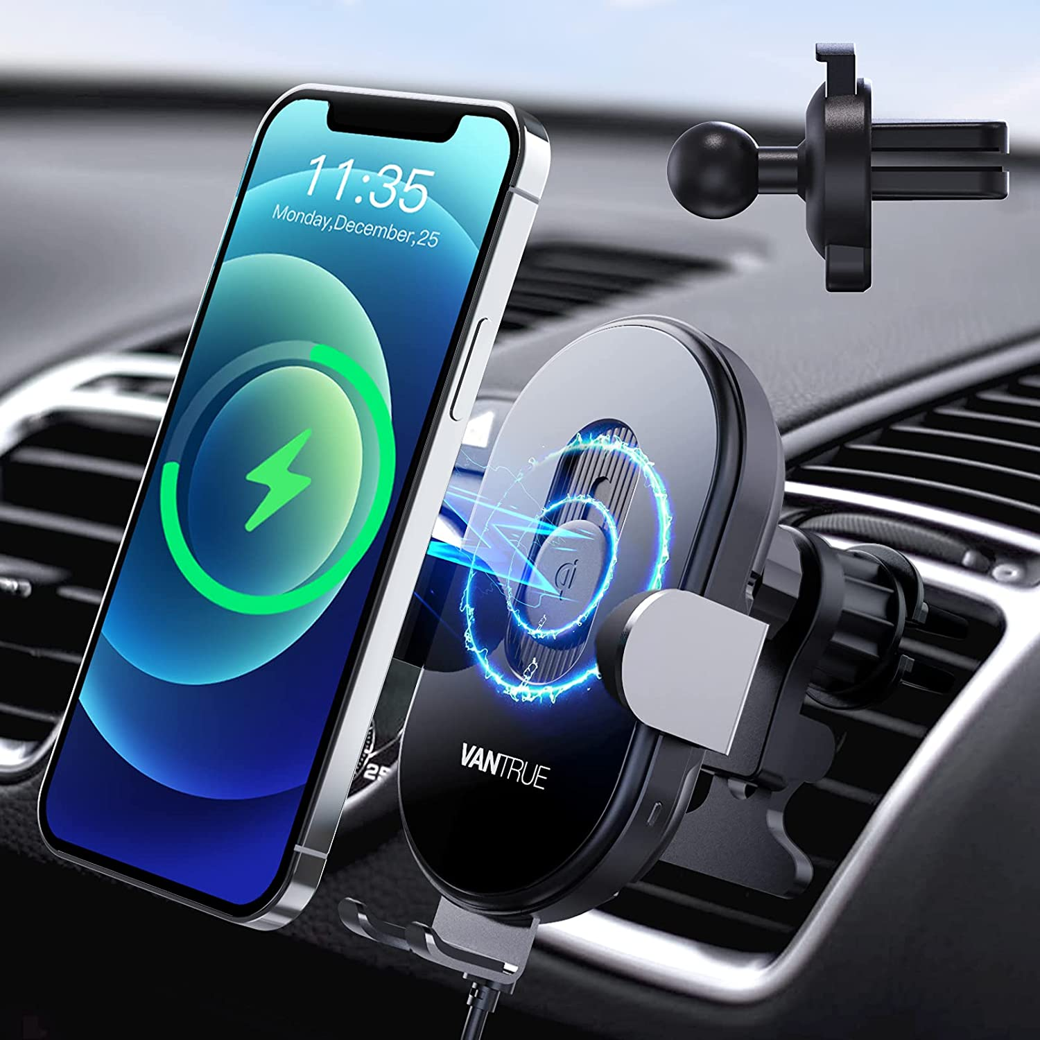 VENTURE wireless car charger phone holder
