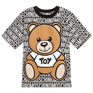 055159abc18f58 Moschino T-Shirt All Over con Orsacchiotto 14A Nero: Amazon.co.uk: Clothing
