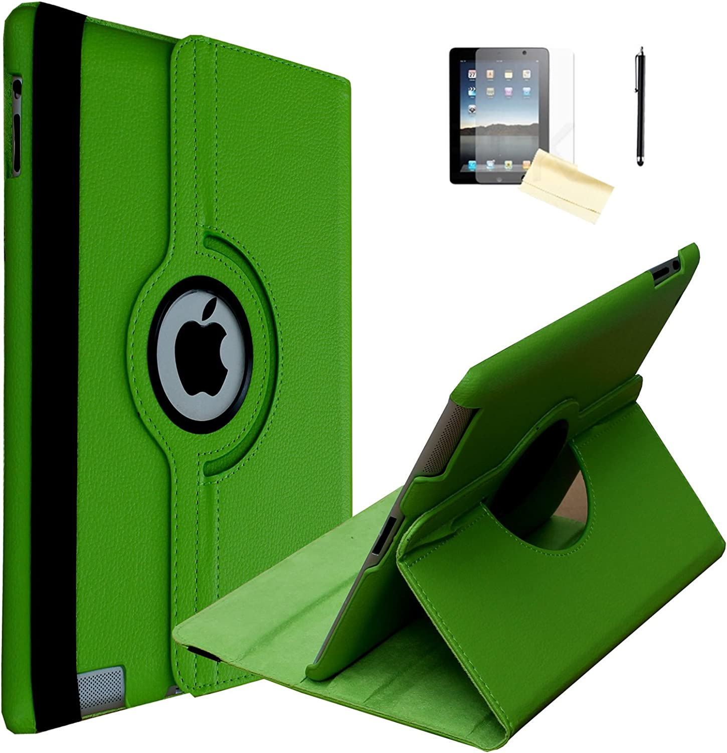 JYtrend iPad Air 2 Case (2014 Release), (R) Rotating Stand Smart Case Cover Magnetic Auto Wake Up/Sleep for iPad Air 2 A1566 A1567 MGKL2LL/A MGTX2LL/A MNV62LL/A MNV72LL/A MNV22LL/A (Light Green)