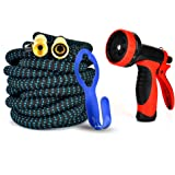 GYMAN Garden Hose Expanding Water Hose Kink-Free 50 Ft for Watering Plants,Showering Pets and Car Wash