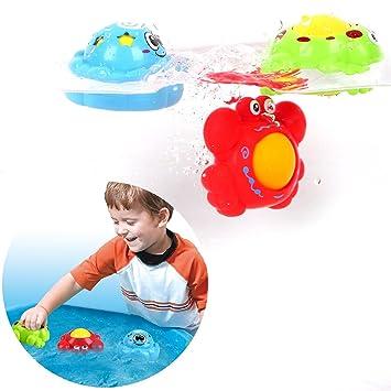 Peradix Juguetes de Baño Animales Flotadores 3PCS Bebés Recién Nacidos Nadan Juguete de Baño Pequeño