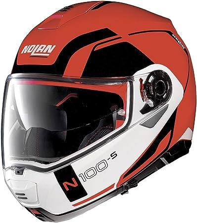 Nolan N100 5 Consistency N Com Corsa Helm Red M Auto