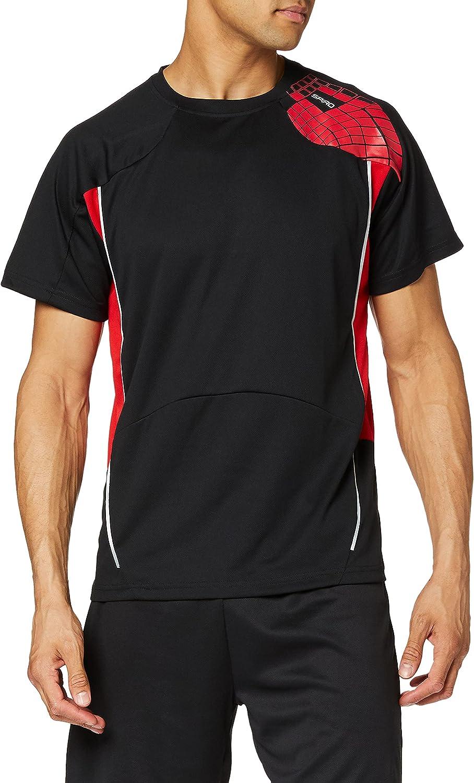 Spiro Camisa de Entrenamiento para Hombre, Hombre, Camisa, S176MBKRD2XL, Negro/Rojo, XXL