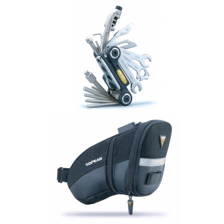 Topeak Alien II Bicycle Multi-Tool (31 Tools!) and Aero Wedge Pack Saddle Bag (Medium) Bundle