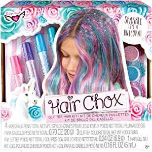 Fashion Angels Hair Chox Set (12167), Hair Chalk Gift Set, Temporary Hair Color