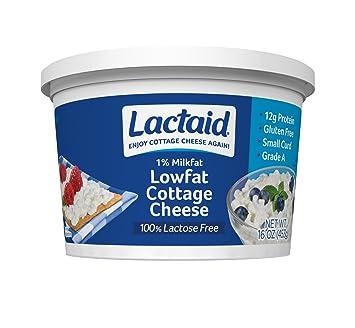 Elegant Lactaid, Low Fat Cottage Cheese, Plain, 16 Oz