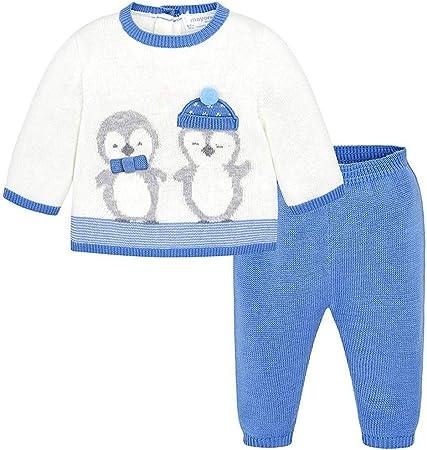 Conjunto mayoral 2 piezas,Conjunto bebe niño,55% Acrílico, 45% Algodón,Jersey estampado,Pantalón lar