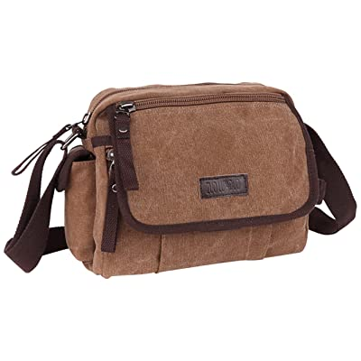 M.G. Unisex-Adult mu8569 Canvas Shoulder Messenger Bag, Coffee, One size