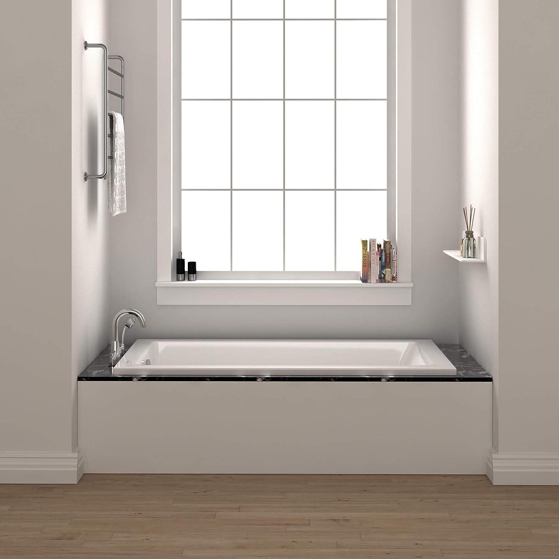 Fine Fixtures Drop In White Soaking Bathtub Fiberglass Acrylic Material 60 L X 30 W X 19 H Amazon Com