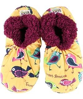 b8b602e5ae55 Tweet Dreams Womens Plush Fuzzy Feet Slippers by LazyOne