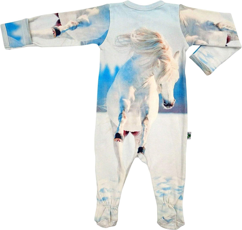Inchworm Alley Footie Wild Horse Unisex Baby Onesie Footed Sleeper Sleepsuit Layette 100/% Organic Cotton