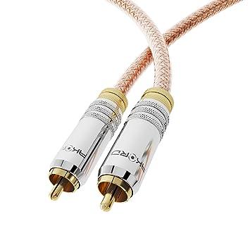 AKORD DIGITAL COAXIAL SPDIF DE AUDIO PREMIUM ORO RCA PHONO CABLE CONECTOR PARA SONIDO ENVOLVENTE DOLBY