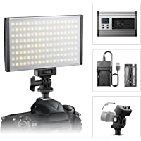 ESDDI LED Camera/Camcorder Video Light Panel for Lighting in Studio or Outdoors, 3200K to 5600K Variable Color…