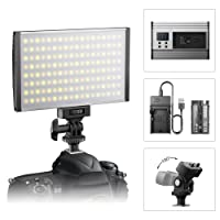 Luce LED Video ESDDI bicolore, dimmerabile, 3200-5600K regolabile, CRI 95+, con batteria e caricabatteria, per interni ed esterni