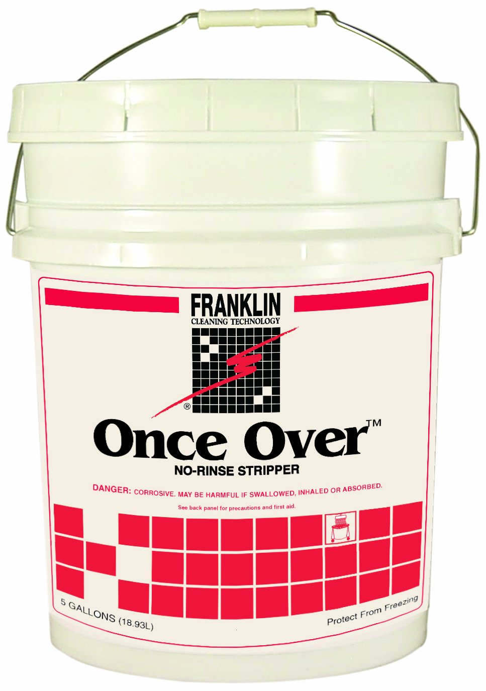 Franklin Cleaning Technology F200026 Once Over Floor Stripper, Mint Scent, Liquid, 5 Gallon Pail
