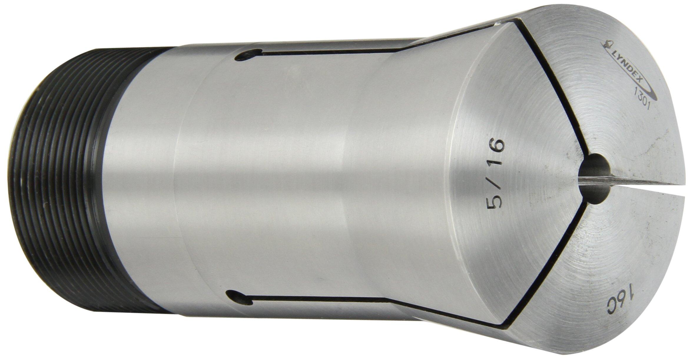 Lyndex 160-020 16C Round Collet, 5/16 Opening Size, 4.31'' Length, 2.26'' Top Diameter, 1.89'' Bottom Diameter