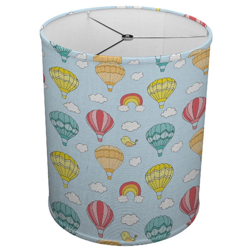 Hardback Linen Drum Cylinder Lamp Shade 8'' x 8'' x11'' Spider Construction [ Hot Air Balloon ]