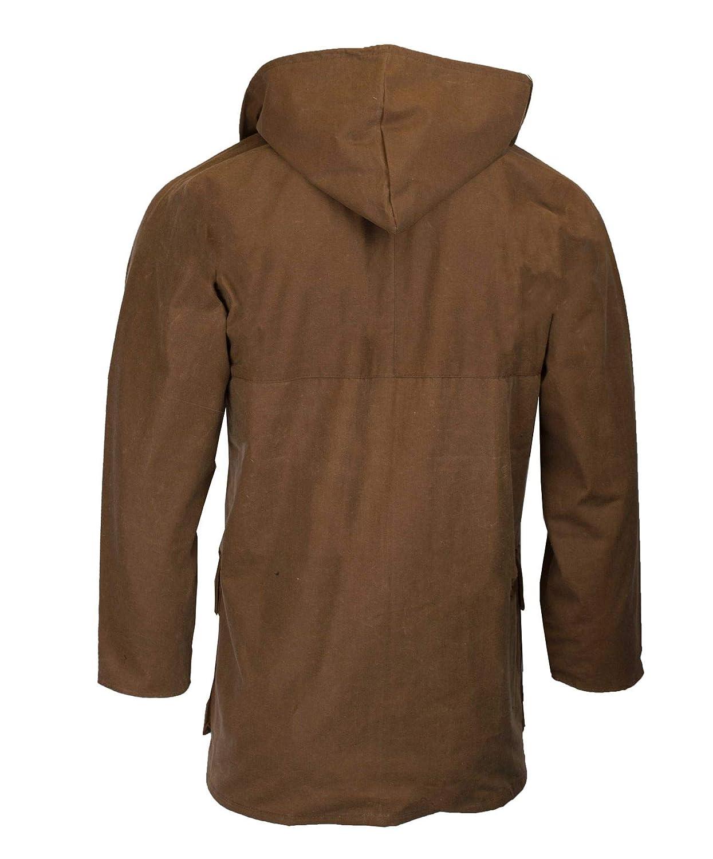 9c1ac2f6d8a Walker   Hawkes - Mens Unpadded Wax Jacket Countrywear Hunting Waxed Coat -  Beige  Amazon.co.uk  Clothing