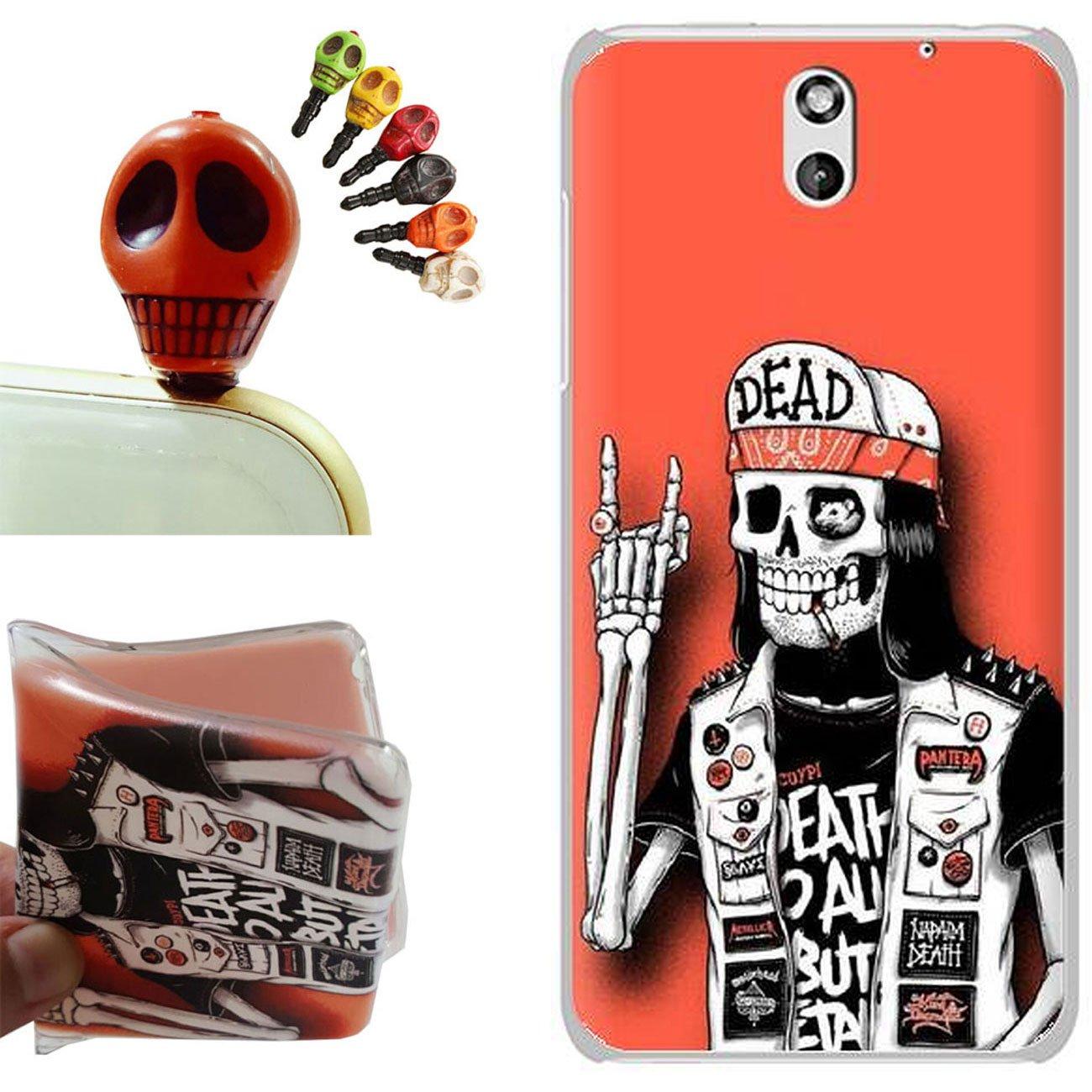 HTC Desire 610 funda - Gallery88 HTC Desire 610 Carcasa, (Cráneo de la roca) Suave TPU protectora de Silicona de Gel Funda Tapa Case Cover para HTC ...