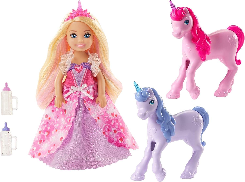 Barbie Dreamtopia Chelsea Princess and Baby Unicorns Barbie Dress Up Doll
