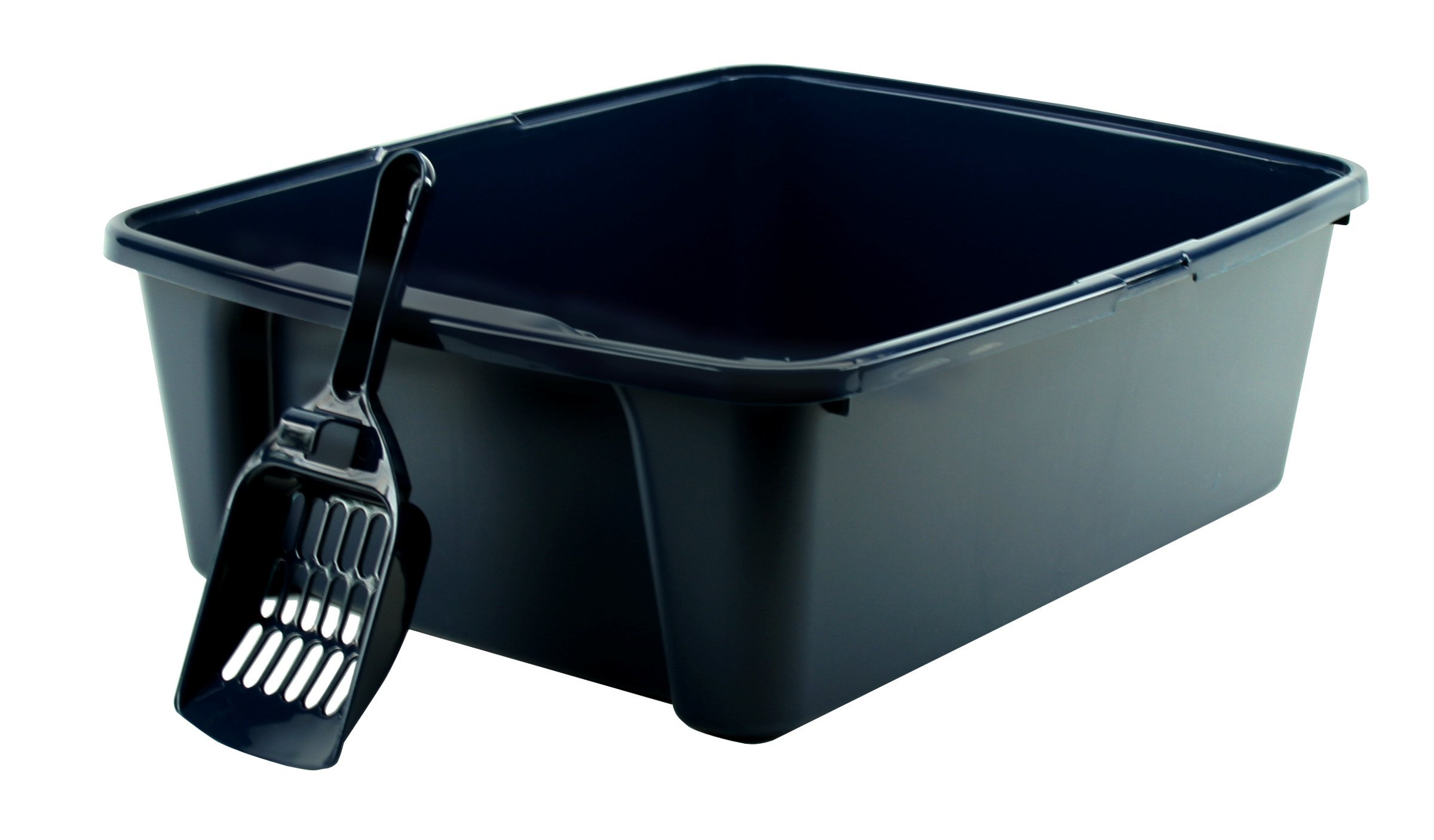 IRIS Open Litter Box with Scoop Blue