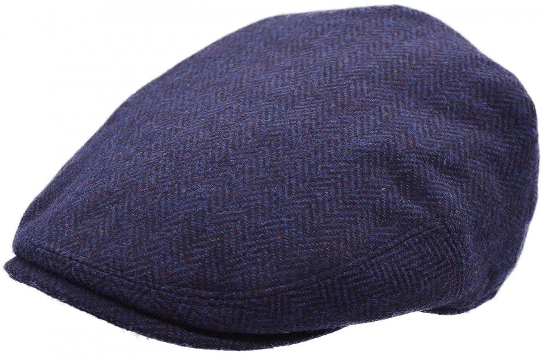 Major Mens Tweed Country Flat Cap Peaked Outdoors Herringbone Racing Hat