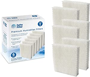 Fette Filter - Humidifier Wicking Filters Compatible with Honeywell HFT600T, HFT600PDQ (Pack of 6)