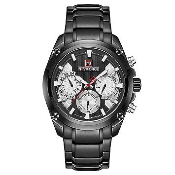 TYWZF Relojes para Hombre Reloj Deportivo De Cuarzo Reloj Completo De Acero Resistente Al Agua,