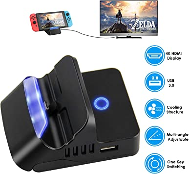 Repuesto para Nintendo Switch Dock, Mini Switch Dock, Charge and ...