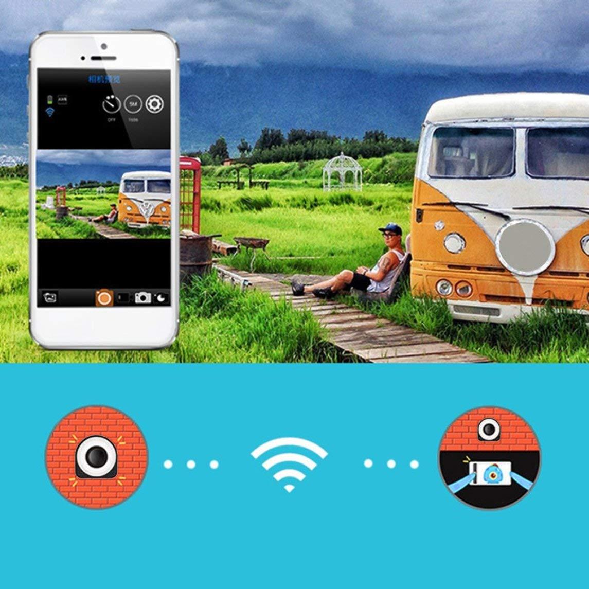 Footprintse 1080P HD Selfie Mini Kamera Fernbedienung Überwachung Recorder für Outdoor-Farbe  schwarz